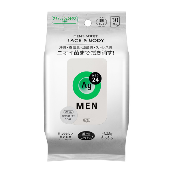 MEN´S FACE&BODY SHEET STYLISH CITRUS  30枚入